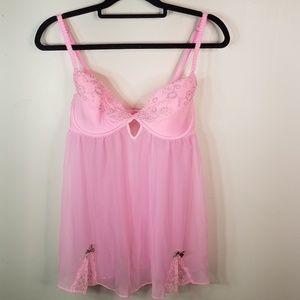 EUC Victoria's Secret pink nightie size 36D